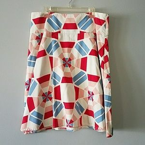 French connection geometric skirt
